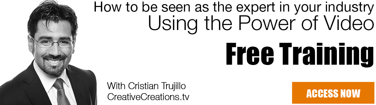 Free Video Training - CreativeCreations.tv - Cristian Trujillo